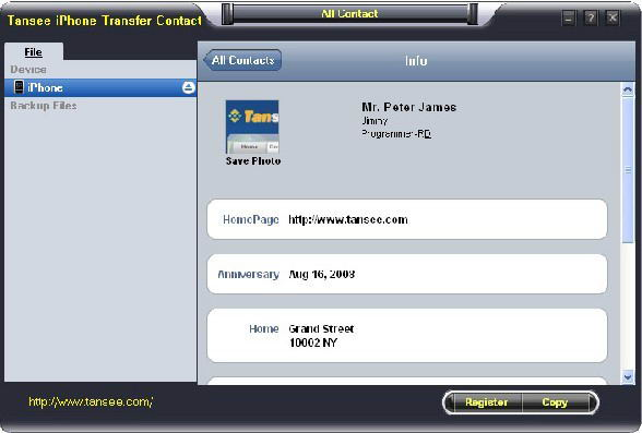 tansee iphone transfer contacts