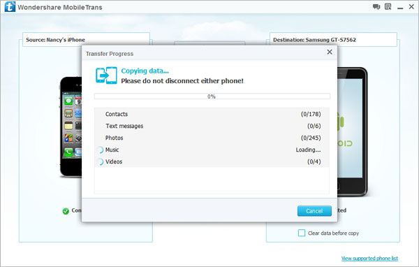 How to Transfer Files from iPhone to Android/iOS/Symbian