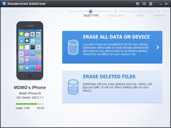 run iphone data eraser
