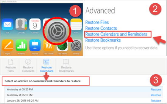 Restore iPhone reminders from iCloud